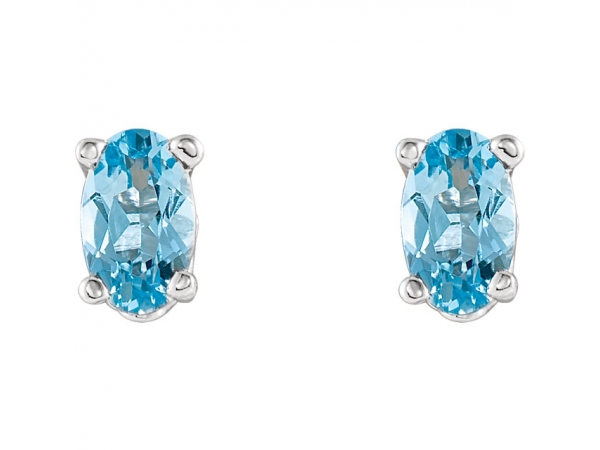 Gemstone Earrings Aquamarine Image 2