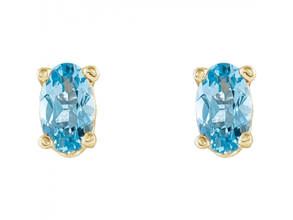 Gemstone Earrings - Aquamarine Earrings - image #2