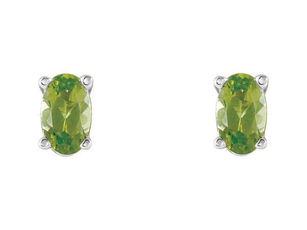 Gemstone Earrings - Peridot Earrings - image #2