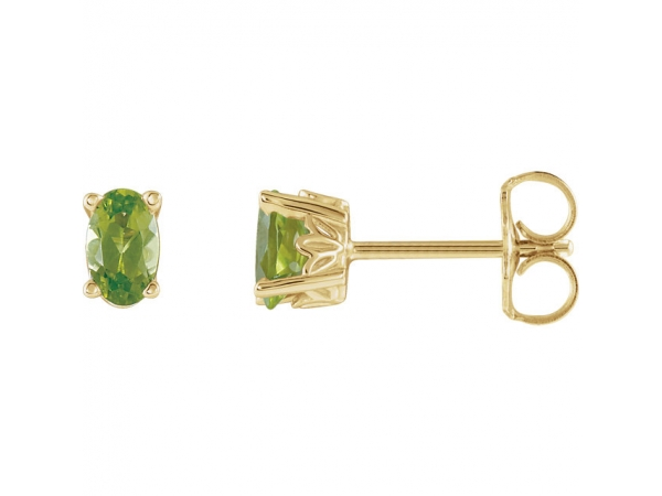 Gemstone Earrings - Peridot Earrings