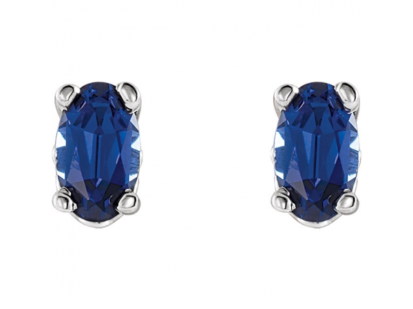 Gemstone Earrings - Blue Sapphire Earrings - image 2