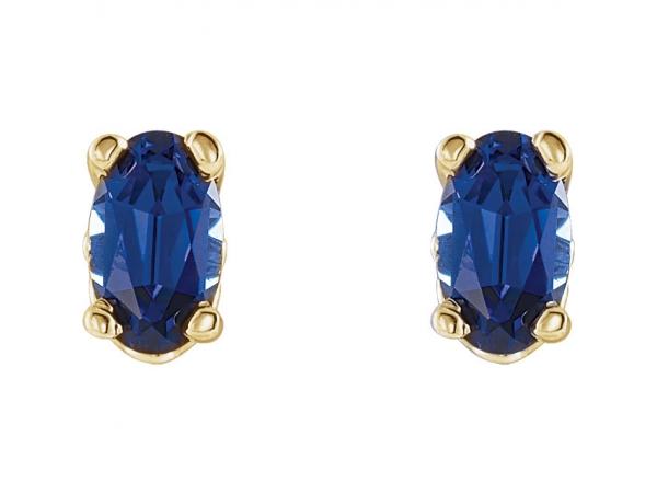 Gemstone Earrings Blue Shire Image 2