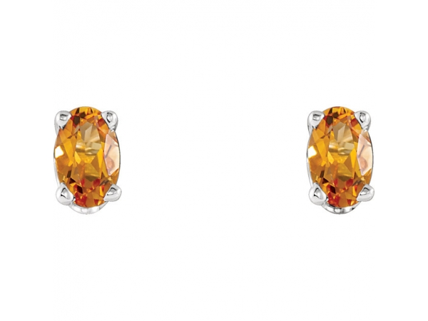 Gemstone Earrings - Citrine Earrings - image #2