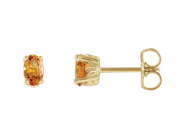 Gemstone Earrings - Citrine Earrings