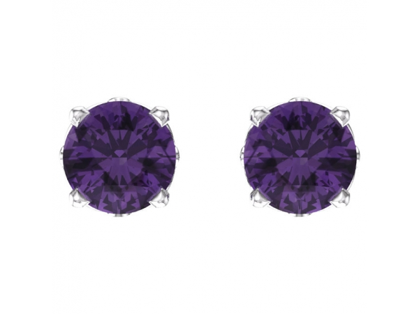 Gemstone Earrings - Amethyst Earrings - image #2