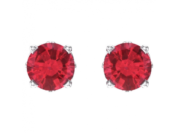 Gemstone Earrings - Ruby Earrings - image 2