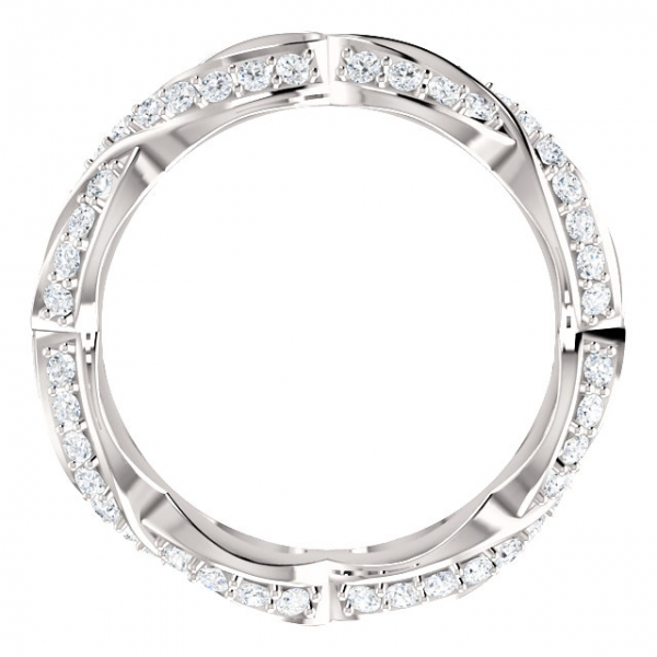 Diamond Fashion Rings - Sculptural-Inspired Engagement  Ring  Matching Band - image #2