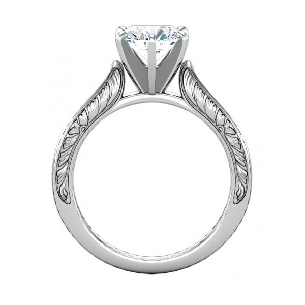 Engagement Rings - Sterling Silver Engagement Ring - image #2
