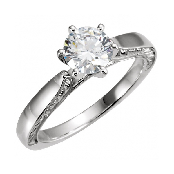 Engagement Rings - 14K White Gold Engagement Ring