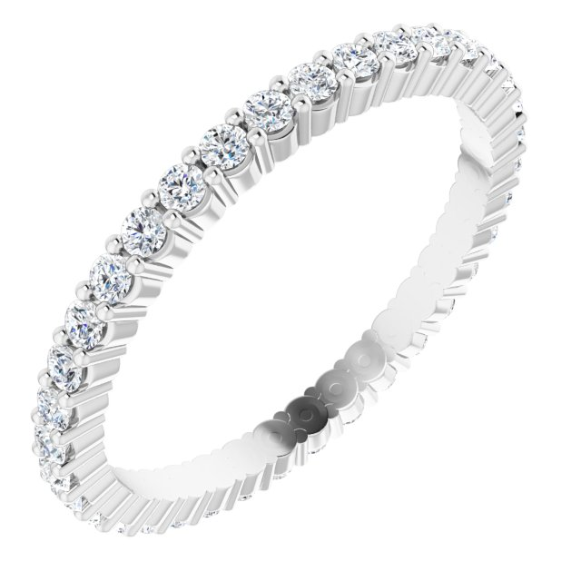 Wedding / Anniversary Bands - 14K White Gold Anniversary Band