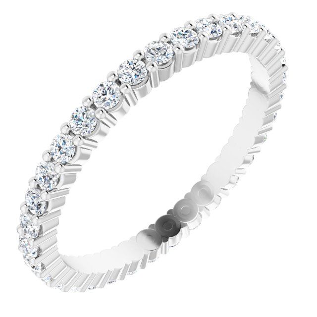 Anniversary Rings - 14K White Gold Anniversary Band