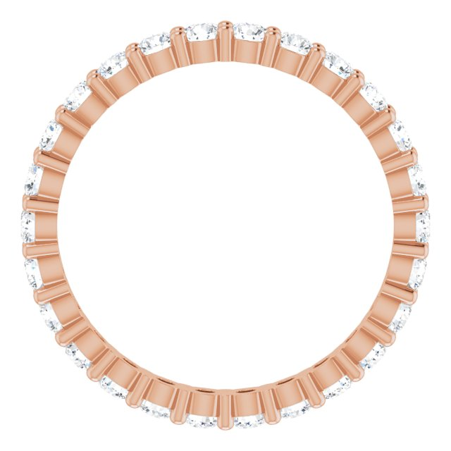 Wedding / Anniversary Bands - 14K Rose Gold Anniversary Band - image #2