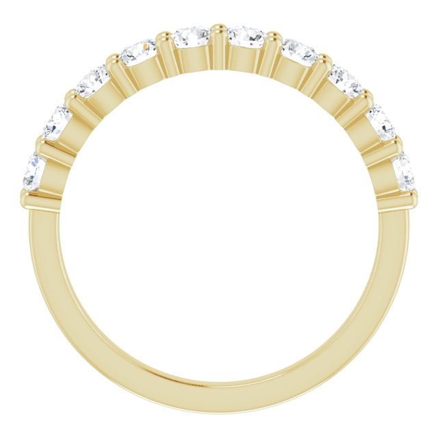 Anniversary Bands - 14K Yellow Gold Anniversary Band - image #2