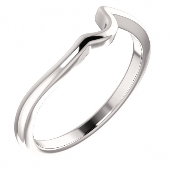 Wedding Bands - Two-Stone Engagement Ring Matching Band