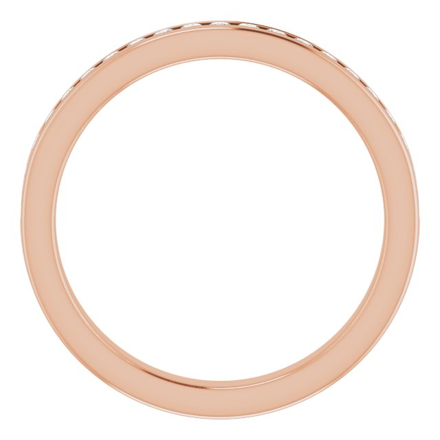 Anniversary Rings - 14K Rose Gold Anniversary Band - image #2