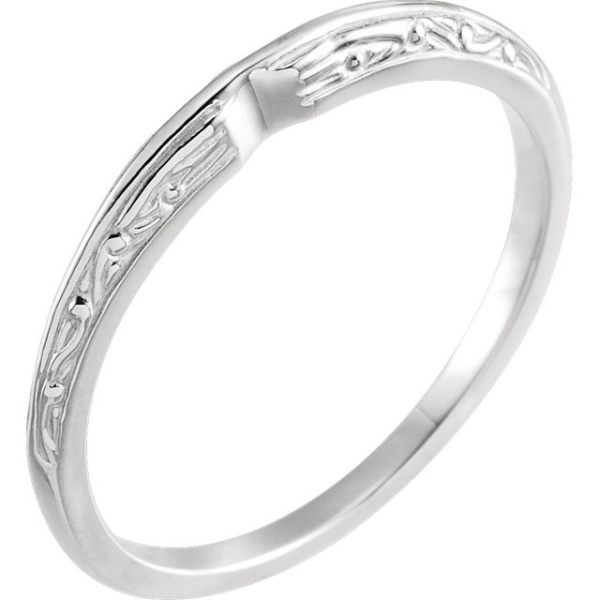 Anniversary Bands - 6-Prong Solitaire Engagement Ring Matching Band
