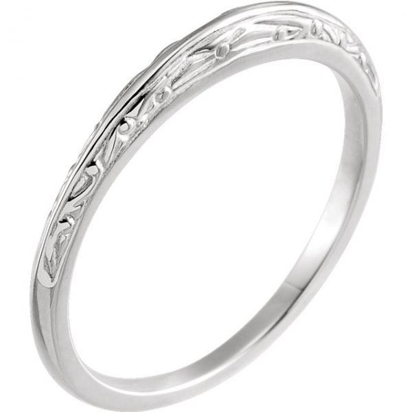 Rings - 6-Prong Solitaire Engagement Ring Matching Band - image 2