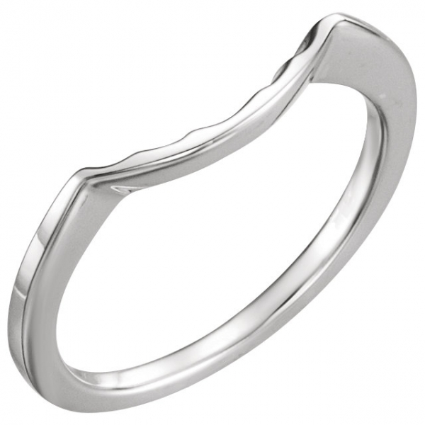 Plain Bands and Alternative Metal Bands - Three-Stone Engagement Ring Matching Band