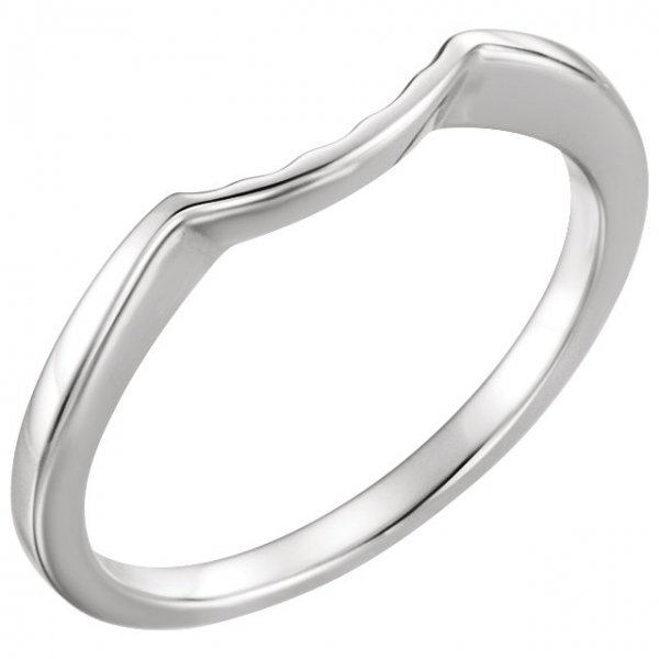 Wedding Bands - Three-Stone Engagement Ring Matching Band