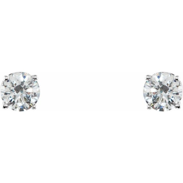 Gemstone Earrings - Imitation White Cubic Zirconia Earrings - image #2