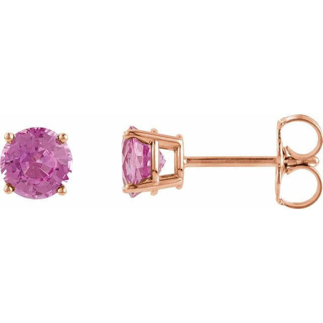 Gemstone Earrings - Genuine Pink Sapphire Earrings