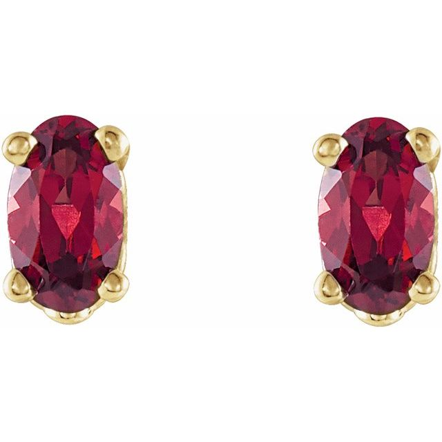 Gemstone Earrings - Oval 4-Prong Scroll Setting® Earrings - image 2