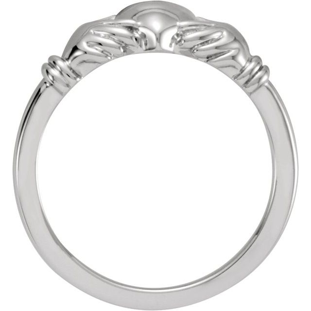 Anniversary Bands - Youth Claddagh Ring - image #2