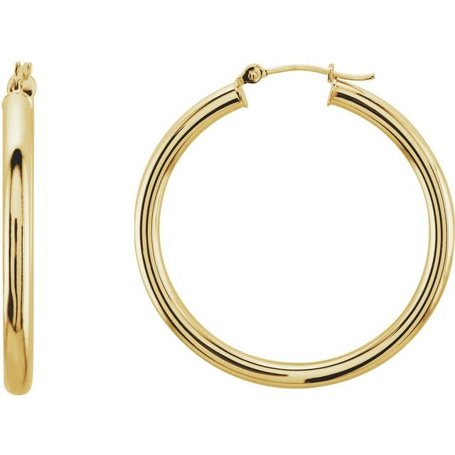 Earrings - Tube Hoop Earrings