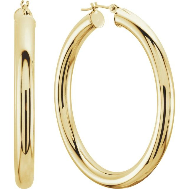 Earrings - Tube 4mm Hoop Earrings