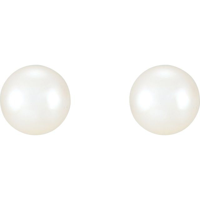 Earrings - Freshwater Cultured Pearl Earrings  - image #2