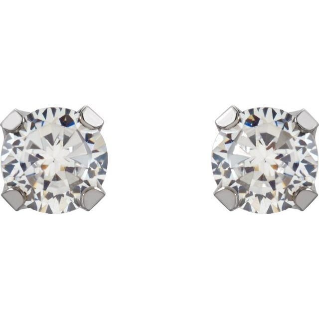 Gemstone Earrings - Inverness® Piercing Stud Earrings - image #2
