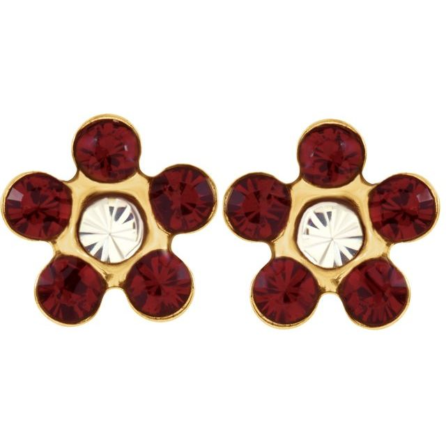 Gemstone Earrings - Floral-Inspired Inverness® Piercing Earrings  - image #2