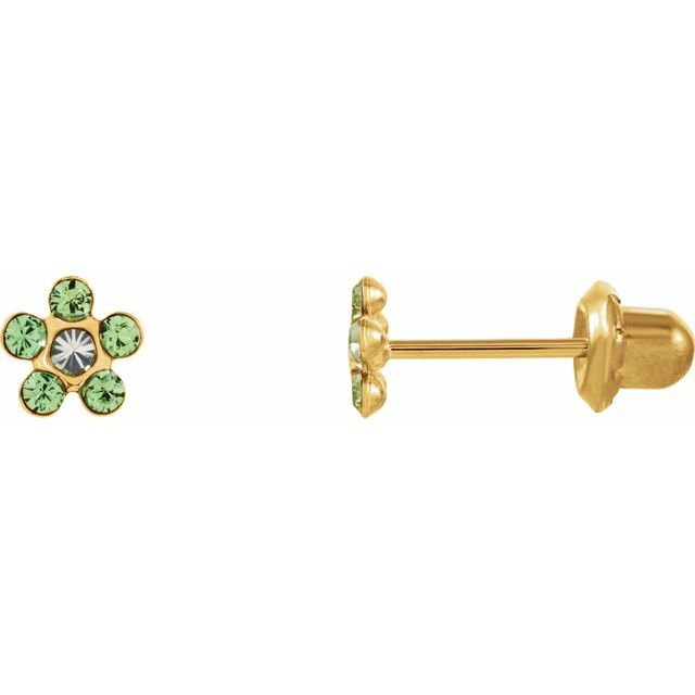 Gemstone Earrings - Floral-Inspired Inverness® Piercing Earrings