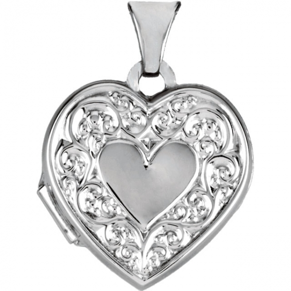 Diamond Pendants - Heart Locket