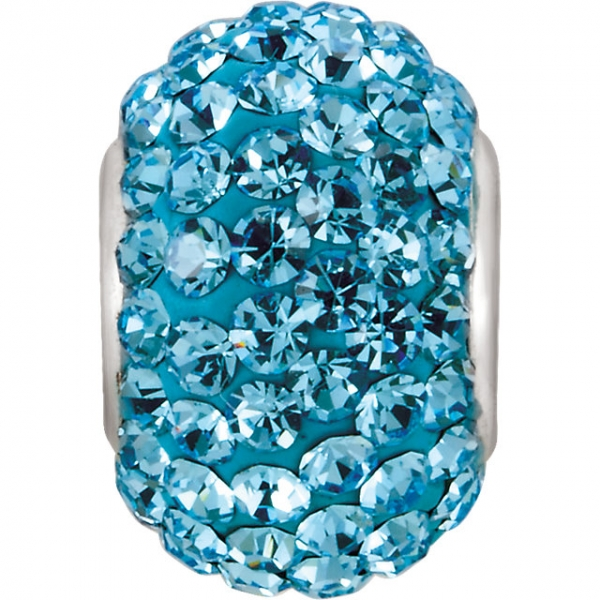 Beads - Kera® Aquamarine-Colored Crystal Pave' Bead