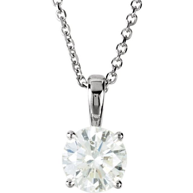 Diamond Necklaces - Round 4-Prong Necklace