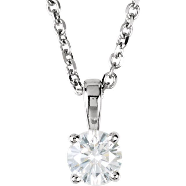 Diamond Necklaces - Round 4-Prong Pendant