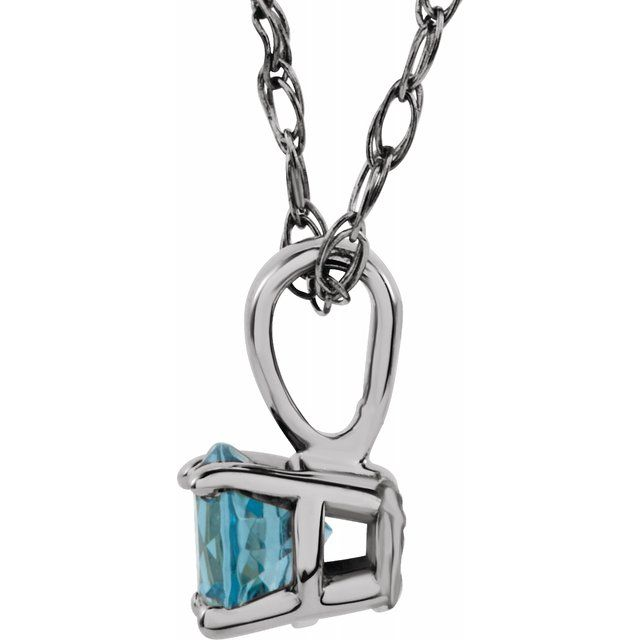 Diamond Necklaces - Youth 4-Prong Solitaire  Necklace  - image #2