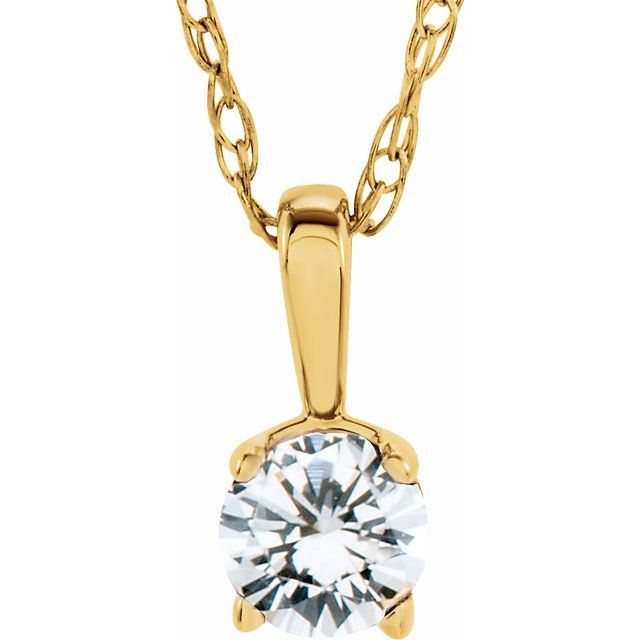Diamond Necklaces - Youth Solitaire Birthstone  Necklace