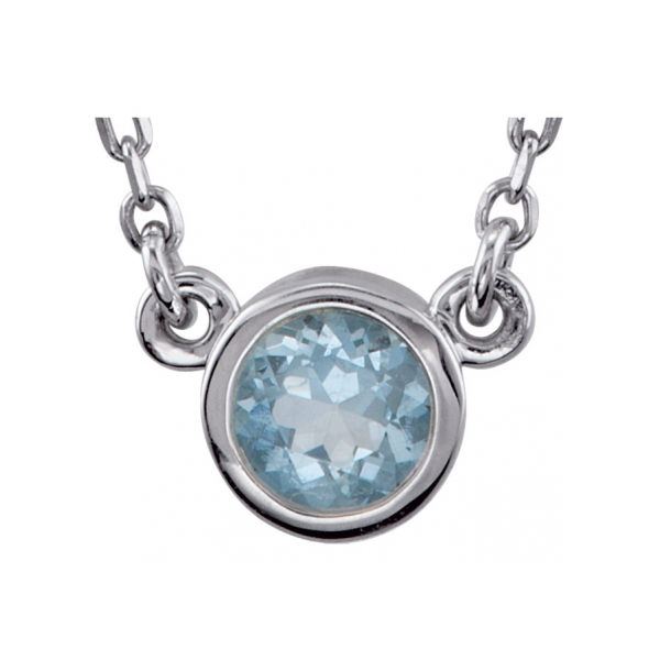 Genuine Aquamarine Necklace by Stuller