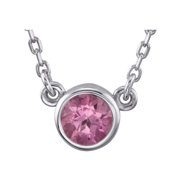Gemstone Necklaces - Pink Tourmaline Necklace