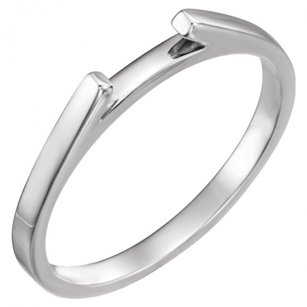 Plain Bands and Alternative Metal Bands - 4-Prong Solitaire Engagement Ring Matching Band