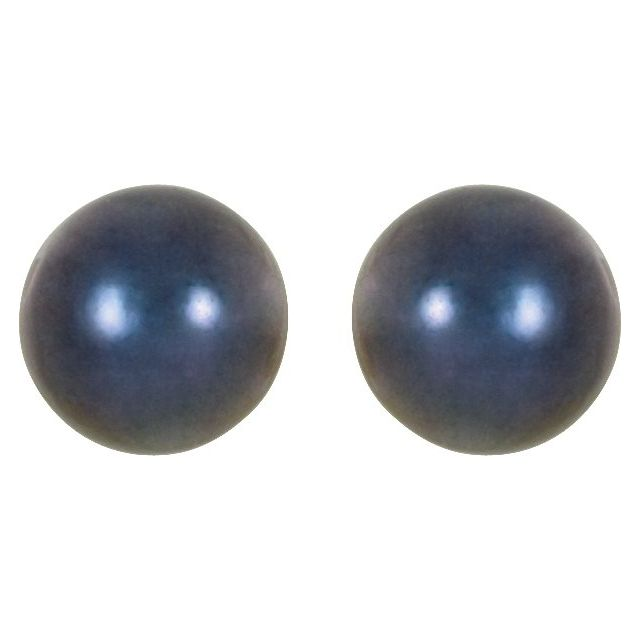 Gemstone Earrings - Akoya Cultured Pearl Stud Earrings - image #2