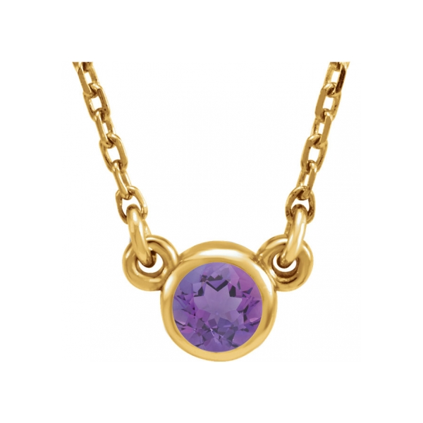 Gemstone Necklaces - Genuine Amethyst Necklace