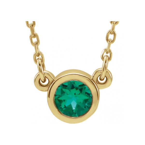 Gemstone Necklaces - Genuine Emerald Necklace