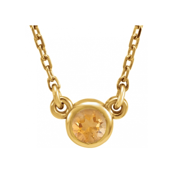 Gemstone Necklaces - Genuine Citrine Necklace