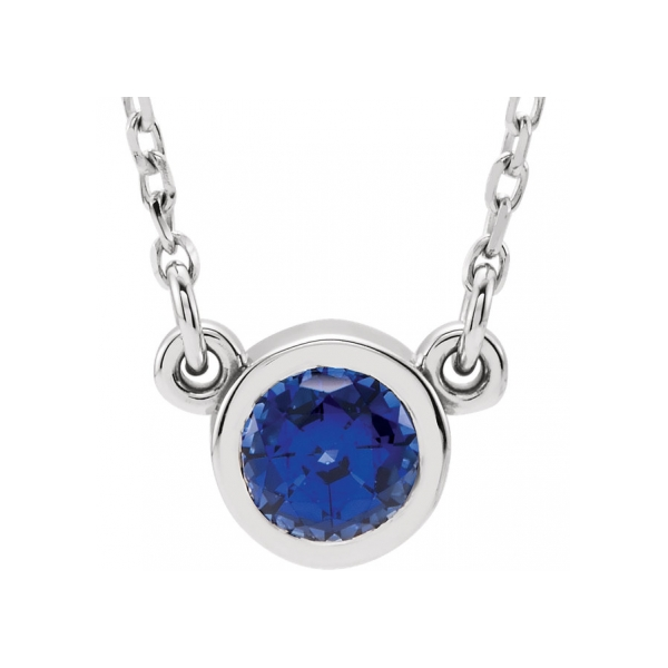 Gemstone Pendants & Necklaces - Lab-Created Sapphire Necklace