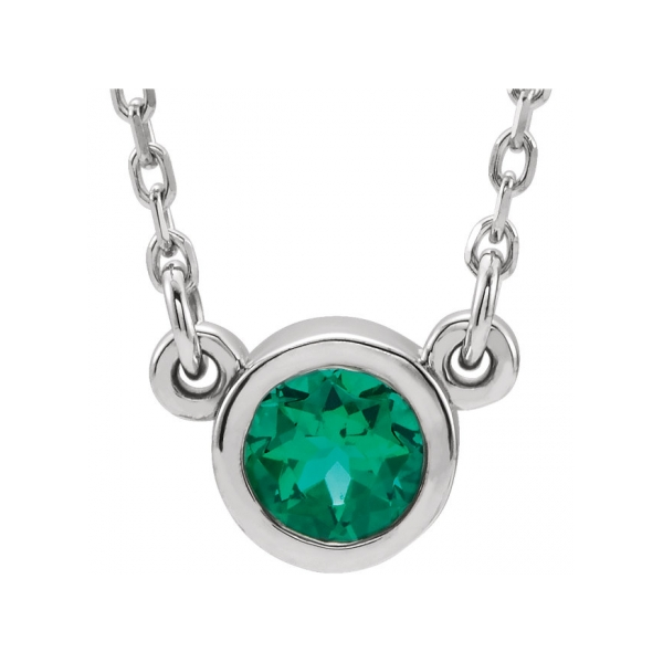 Gemstone Necklaces - Imitation Emerald Necklace