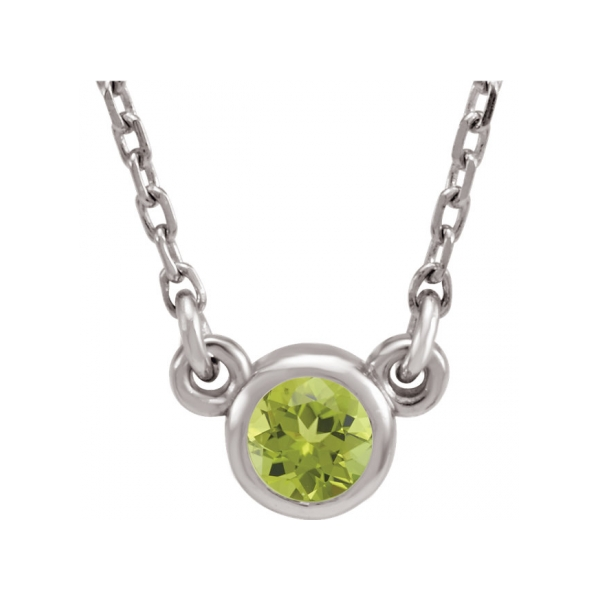 Gemstone Necklaces - Imitation Peridot Necklace