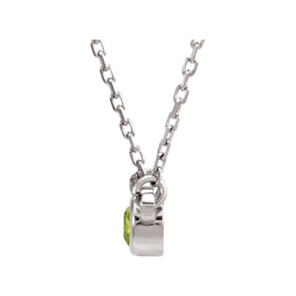 Gemstone Necklaces - Imitation Peridot Necklace - image #2